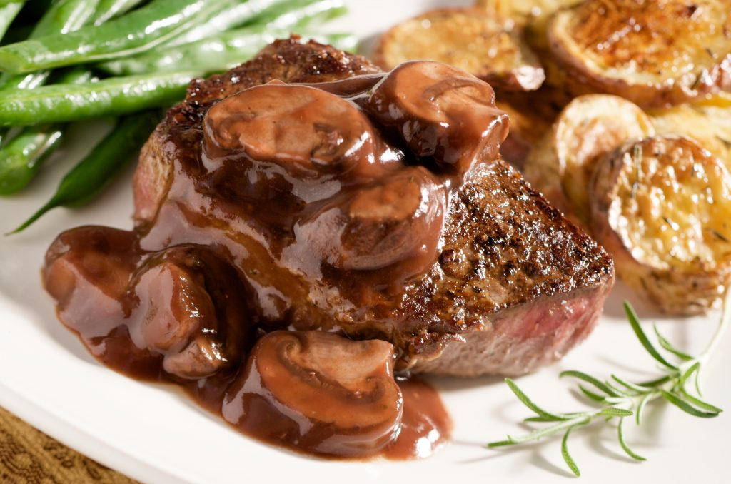 steak & mushrooms