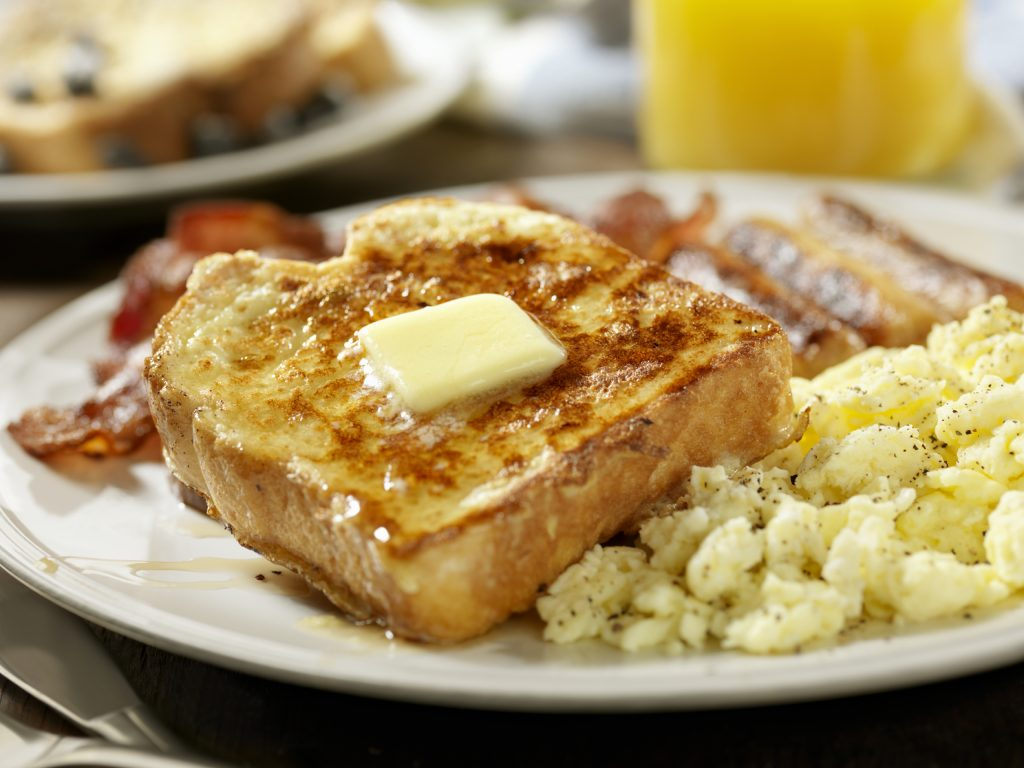 french toast & eggs